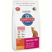 Корм для котов Hill's Science Plan Sensitive Skin для кошек c чувствительной кожей с курицей 400 гр фото