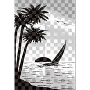 Обработка пескоструйная на 2 стекло артикул 101-06 фото