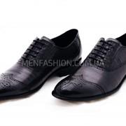 Туфли мужские VITTO ROSSI графитового цвета 031 фото