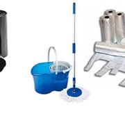 • Инвентари для уборки. Расходные материалы. (пакеты для мусора, обтирочные материалы, губки, тряпки, перчатки и т.п.) фото
