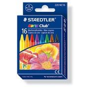 Набор мелков восковых Staedtler Noris, 8 мм, 16 штук, картонная коробка 16 цветов фото