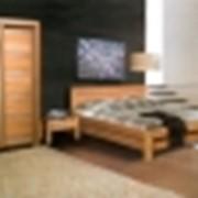 Спальня с 3-х дверным шкафом и зеркалом Гармония, массив бука фото