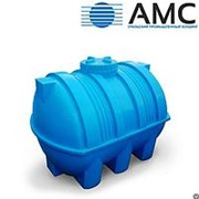 Бак пластиковый 2000 литров горизонтальный цилиндрический с крышкой фотография