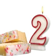 Свеча цифра для торта Мишка 7 красная, 436344 / 1-13-7 фото