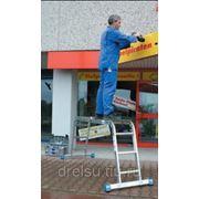 Лестницы-стремянки алюминиевые профессиональные Krause STABILO Шарнирная универсальная с 4x3 перекладинами 123510 фото