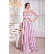 Вечернее платье кружевной лиф V852 фото