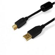 SH7013-3B SHIP кабель, 3,0м., USB 2.0 A (Male)-->B (Male), Чёрный, Блистер фото