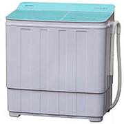 Стиральная машина OPTIMA МСП-68СТ (п/авт.,стекл. крыш.,стир./отж. 6,8кг/5,0кг,1350 об./мин.,насос) (Вариант I (Белое стекло, синие цветы)) фото