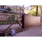 Окатные металлические ворота фото