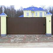Уличные откатные ворота DoorHan 5000x2400. фото
