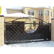 Ворота сдвижные кованые фото