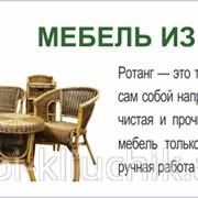 Мебель из цельного ротанга фото