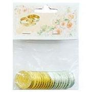 Свадебные монеты с пожеланиями 3см фото