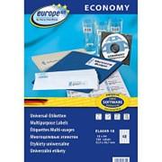 Этикетки самоклеящиеся Europe ELA049-18,52,5x29,7мм,40шт на листеА4 18л/уп. фото