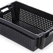 Б/У Ящик для овощей и фруктов 600х400х200 мм с отверстиями фото