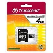Карта памяти Transcend MicroSDHC 4GB (Class 4) + SD адаптер (TS4GUSDHC4) фото