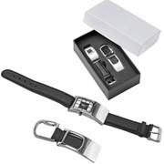 Бизнес-сувениры, набор: часы наручные и брелок фото