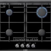 Варочная газовая плита черная Bosch PRP626B70E фото
