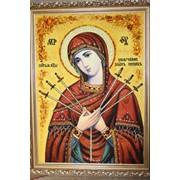 """Икона из янтаря """"Богородица"""" 60*80 фото"""