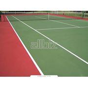 Покрытия резиновые для теннисных кортов фото