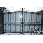 Кованые ворота 6 фото