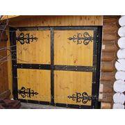 Кованые накладки для деревянных ворот… фото