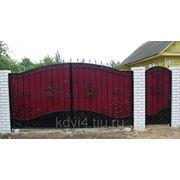Ворота кованые №9 фото