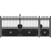 Ворота и калитка: Классика, модель 009 фото