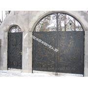 Кованые ворота 12 фото