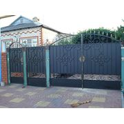 Кованые ворота 16 фото