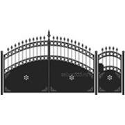 Ворота и калитка: Арка, модель 009 фото