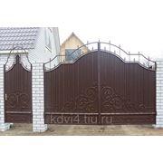 Ворота кованые №11 фото