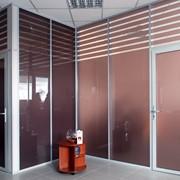 Перегородки офисные стационарные из алюминия фото