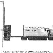 Сетевой адаптер беспроводной связи SureCom EP-9321-gl 54М Wireless LAM PCI Adapter фото