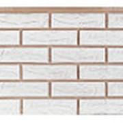 Фасадные панели T-Сайдинг, коллекция «Лондон Брик» белый, 1090х455 фото