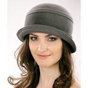 Шляпка женская из велюра фото