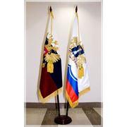 Флагшток напольный с основанием «Блин» на два флага фото