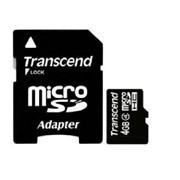 Карта памяти micro SD 4 GB Transcend, Class 4, SD adapter, TS4GUSDHC4 фото