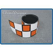 Магнитная лента «шашки» для такси (96х8см) фото