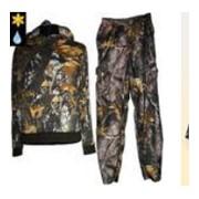 Одежды для охоты и рыбалки. фото