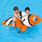 Игрушка для плавания Bestway Всадник на Рыбе клоун 41088, размер - 1.57 см x 94 см фото