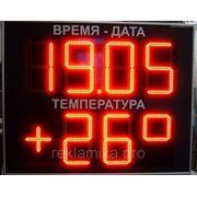 Светодиодное табло Время+температура фото