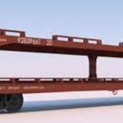 Платформы железнодорожные для перевозки автомобилей модели 13-479 фото