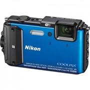 Цифровой фотоаппарат Nikon Coolpix AW130 Blue (VNA841E1) фото