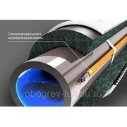 Саморегулирующийся греющий кабель для канализации на трубу 24 Вт готовая секция (3 метра) фото