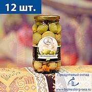"""Шампиньоны с оливками (стекло) 500 гр. """"AMADO """" фото"""