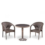 Комплект плетеной мебели T501DG/Y290BG-W1289 Pale 2Pcs фото