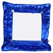 Подушка сублимационная с наволочкой (Синяя) 32х32см фото