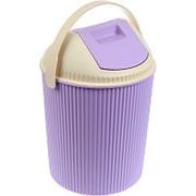 Бак для мусора с крышкой, сиреневый (Изумруд) фото