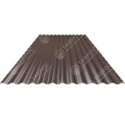 Гофрированный лист В-19 0,35x1140x1500 Полиэстер RAL 8017 (Шоколадно-коричневый) односторонний фото
